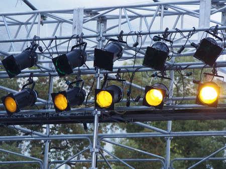 On stage lighting Stock Photo