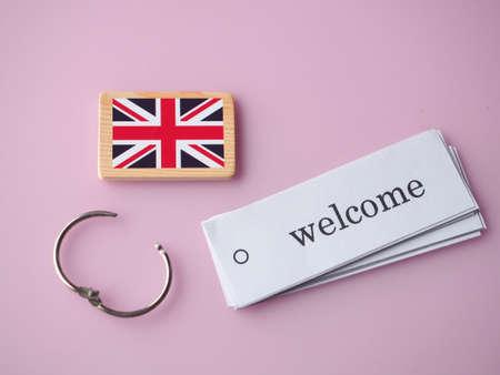 Welcome English Stock Photo