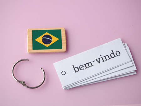 Welcome Portugal language Stock Photo