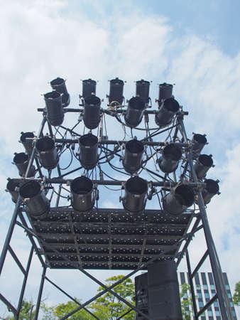 Concert lighting equipment Stock Photo