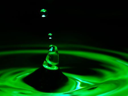 water drops on a color background