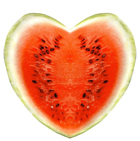 watermelons on a white background Imagens