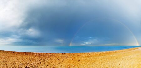 rainbow on a sea photo