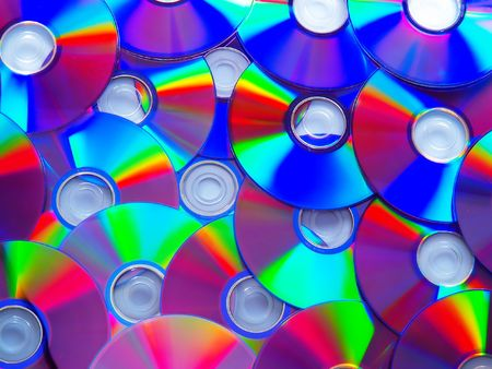cd and dvd disk`s on a white background
