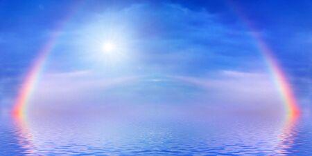 rainbow on a sea Imagens - 883209