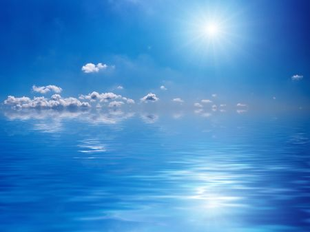 light reflex: sky and sun