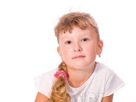 Girl on white background photo