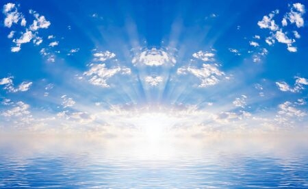 sun and water Imagens