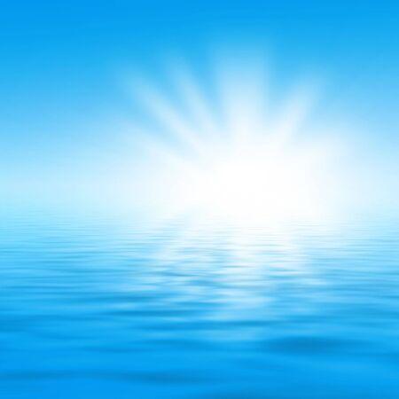 blue sea and sun 版權商用圖片
