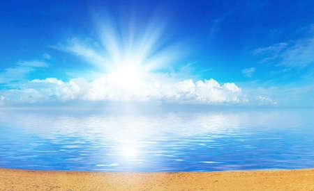 warmly: Ocean and sun