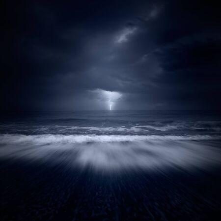 storm tide: storm at sea Stock Photo