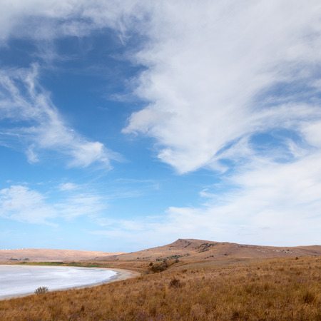 broken hill: Barren landscape photographed in the afternoon Stock Photo