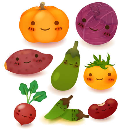 Fruit and vegetable Collection  Vector