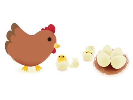hatchling: Happy Farm Illustration