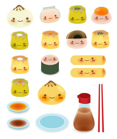 Cute DimSum Collection  Vector