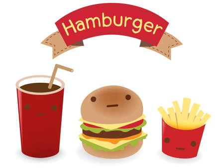 Hamburger Set Vector