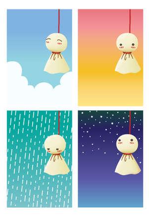Rain Doll - Teruterubozu Vector