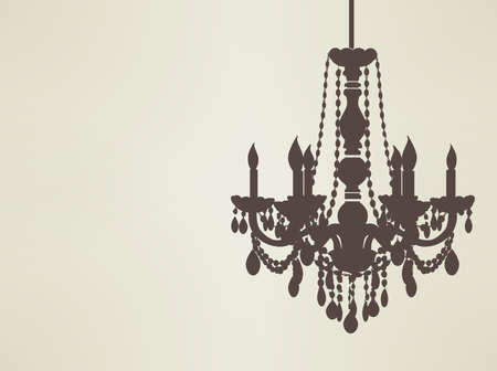 chandelier silhouette  Stock Vector - 19977805