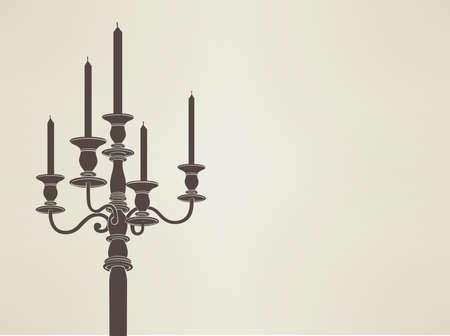candelabra: candelabra silhouette  Stock Illustratie