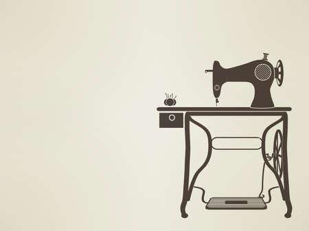 maquina de coser: silueta maniquí cosecha