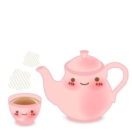 chinese tea cup: Teapot set  Illustration