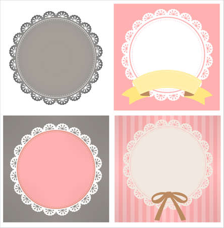 gray cards: cute lace pattern