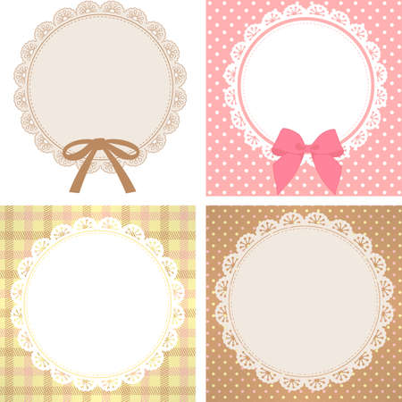 gingham: Cute Lace Pattern  Illustration