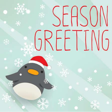 muffs: Pinguino - natale biglietto di auguri