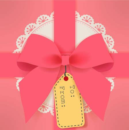 chrismas card: cute gift box Illustration