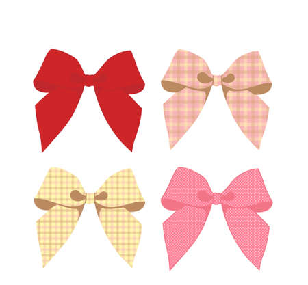 girls with bows: Tartan ribbon