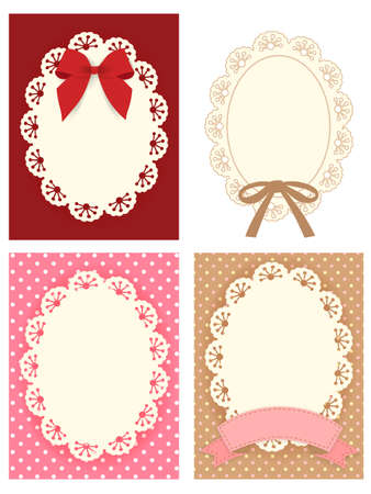 Cute Lace Pattern  Vector