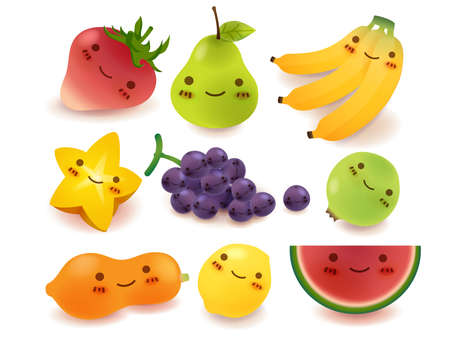 platano caricatura: Frutas y verduras Colecci�n