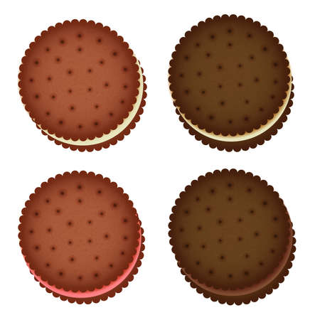 carbohydrate: cookie Collection  Illustration