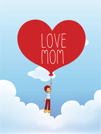 sweety: Mother s Day Card  Illustration