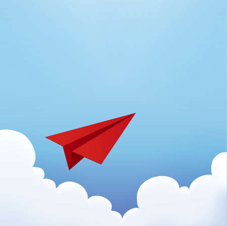 clean air: Paper Plane in The Sky