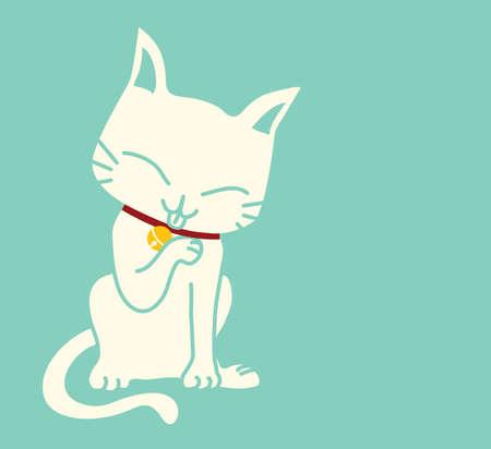 comic baby: Cute Cat  Illustration