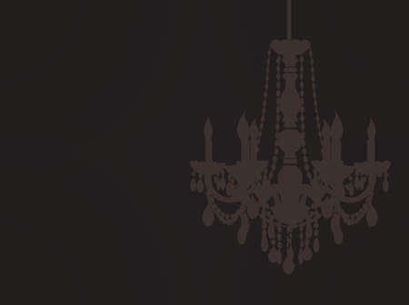 chandelier silhouette Stock Vector - 19975884
