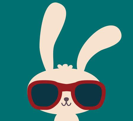 conejo caricatura: Lindo conejo  Vectores