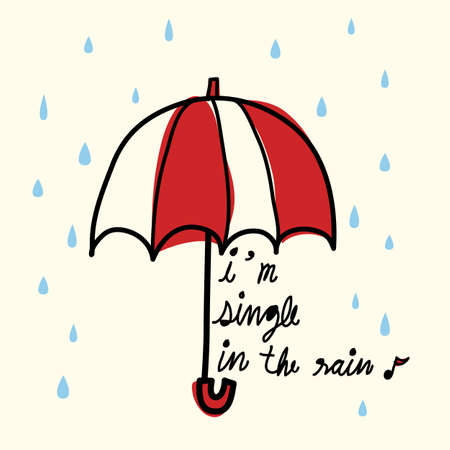 sad lonely girl: Single in the Rain