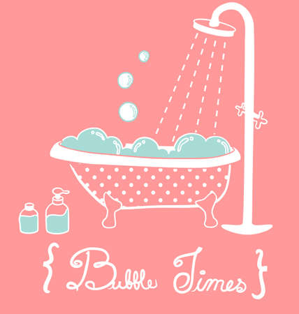 Vintage Bathtub Stock Vector - 19975950
