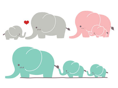 elephants: Lindo elefante Vectores