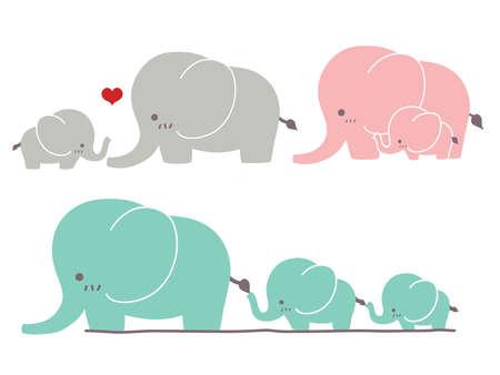moeder met baby: Schattige olifant