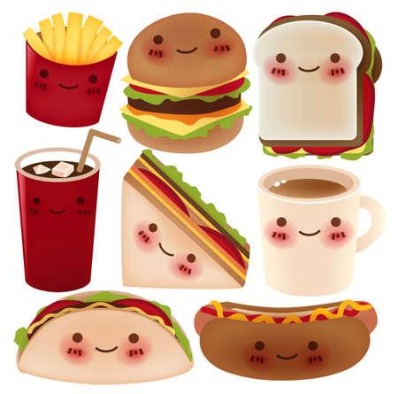 Fast Food-Sammlung Vektorgrafik