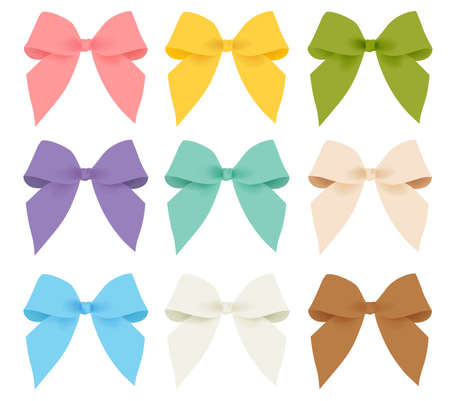girls with bows: Rainbow  Ribbon