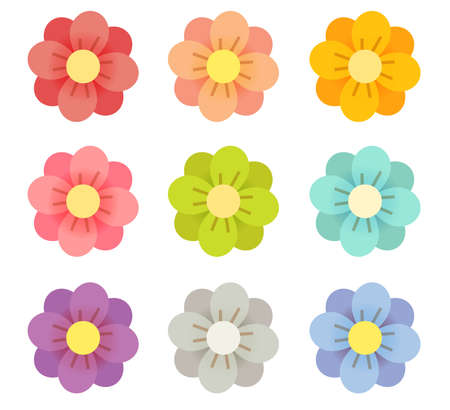 Cute Flowers - Vector File EPS10 Vector