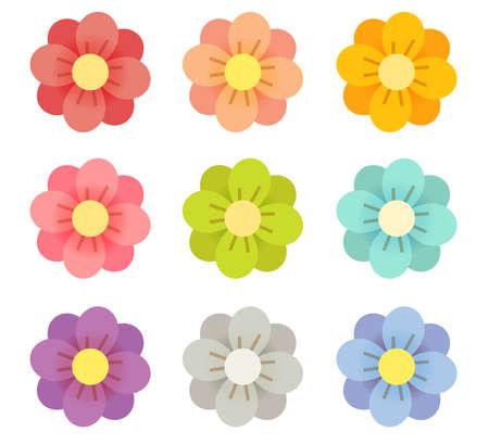 Cute Flowers - Vector File EPS10