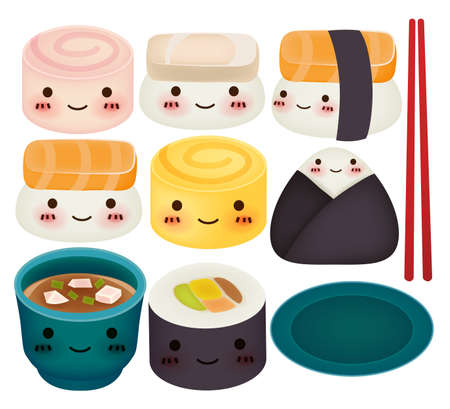 japanese food: Sushi Collection