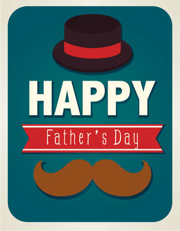 fathers day background: Happy fathers day card