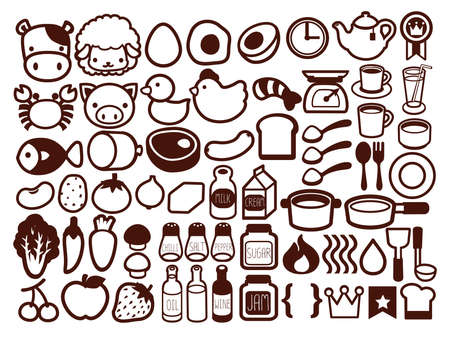 50  Food and Drink Icon   Vector