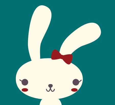 cute girl cartoon: Cute Rabbit   Illustration